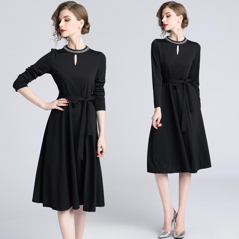 ロングワンピース Aラインワンピース ドレス