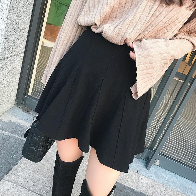 秋冬新作 大きいサイズハイウェストラシャスカート