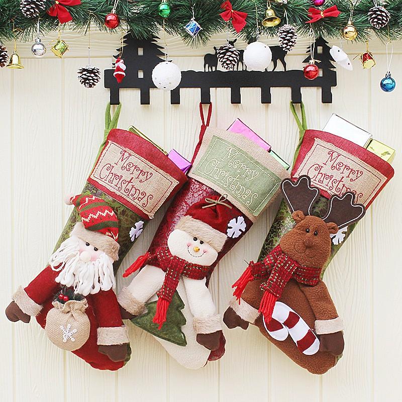 クリスマス 飾り クリスマスソックス ぬいぐるみ付き