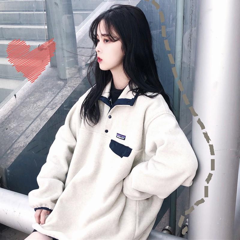 秋冬新作 シャツ襟BIGスウェット 韓国ファッション