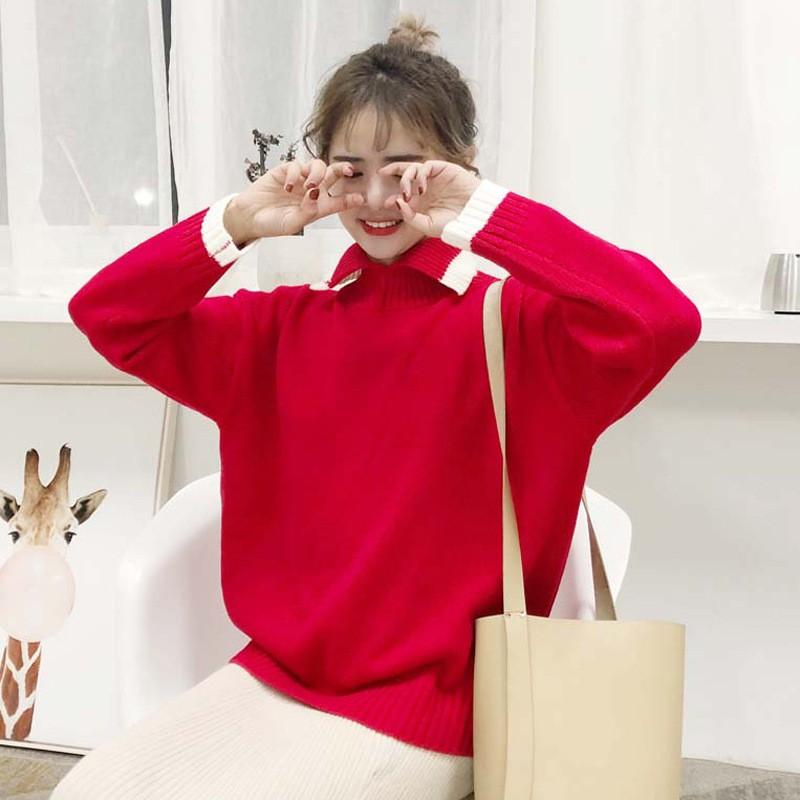 秋冬新作 シャツ襟セーター