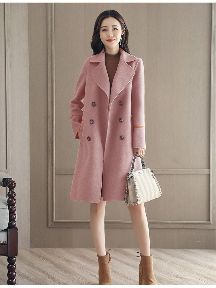 冬季のダブルブレストのラシャのコート