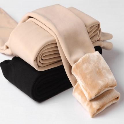 絨の中  さらに厚くします  保温するはっきりしている肌のつやがある足  レギンス