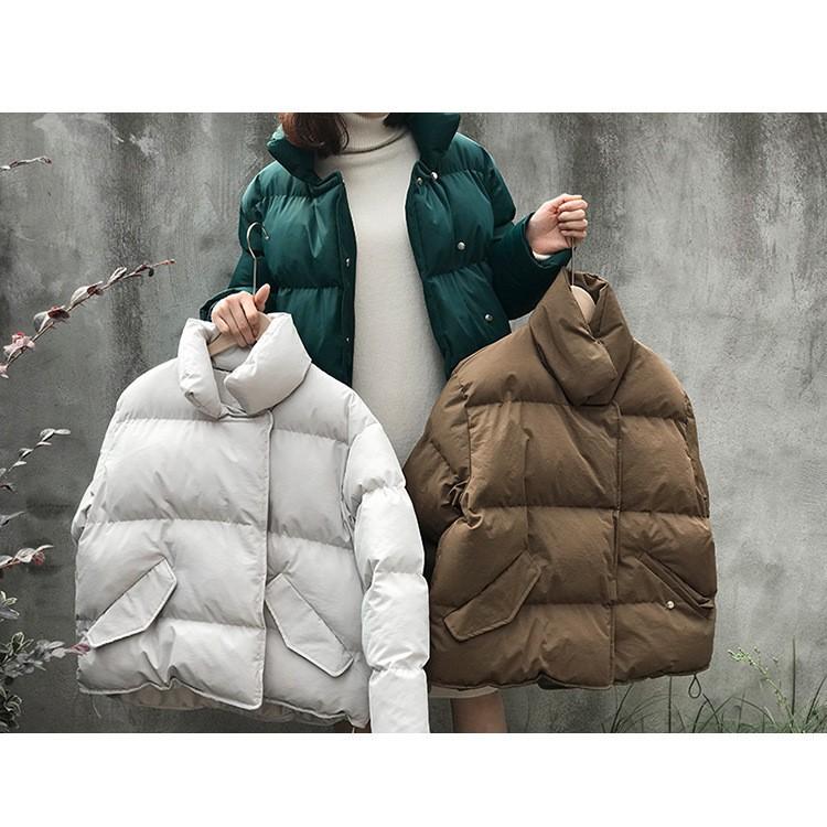 秋冬新作 パンのようなショット綿入れコート