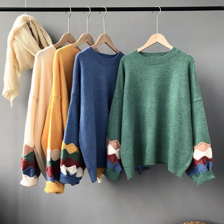秋冬新作 パフスリープ切り替えセーター