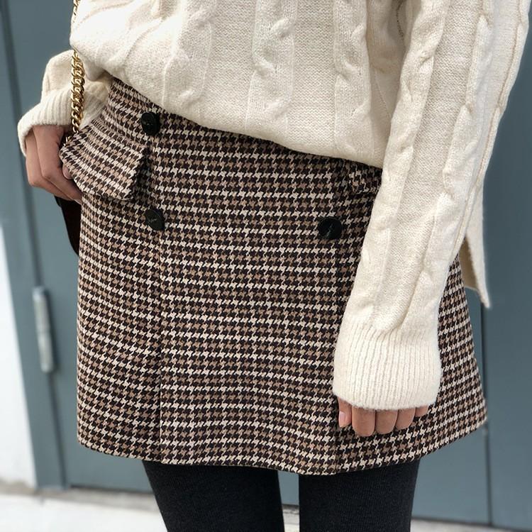 秋冬新作 A型ハイウェストラシャスカート