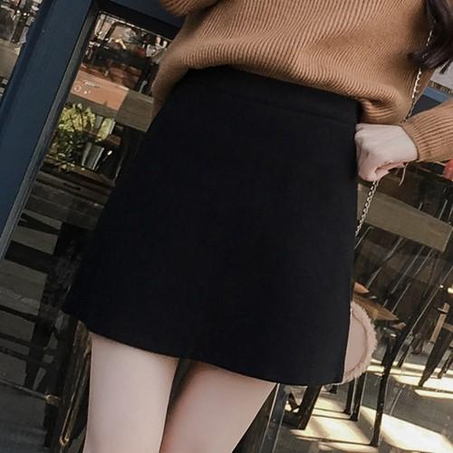 2018ins   秋冬  新作のラシャ   スカート