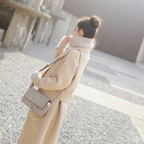 秋冬  新作  ゆったり系  ロング丈  ラシャのコート