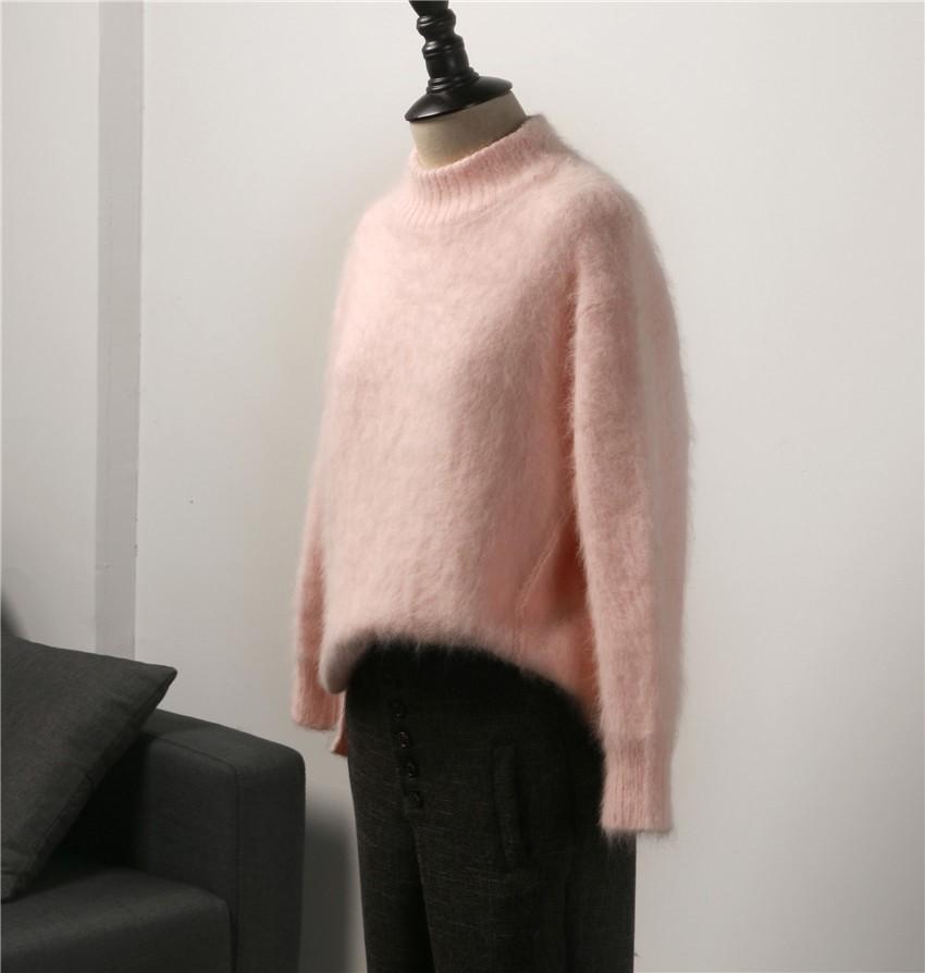 小さいタートルネックのベンツの編み織の毛糸のセーター