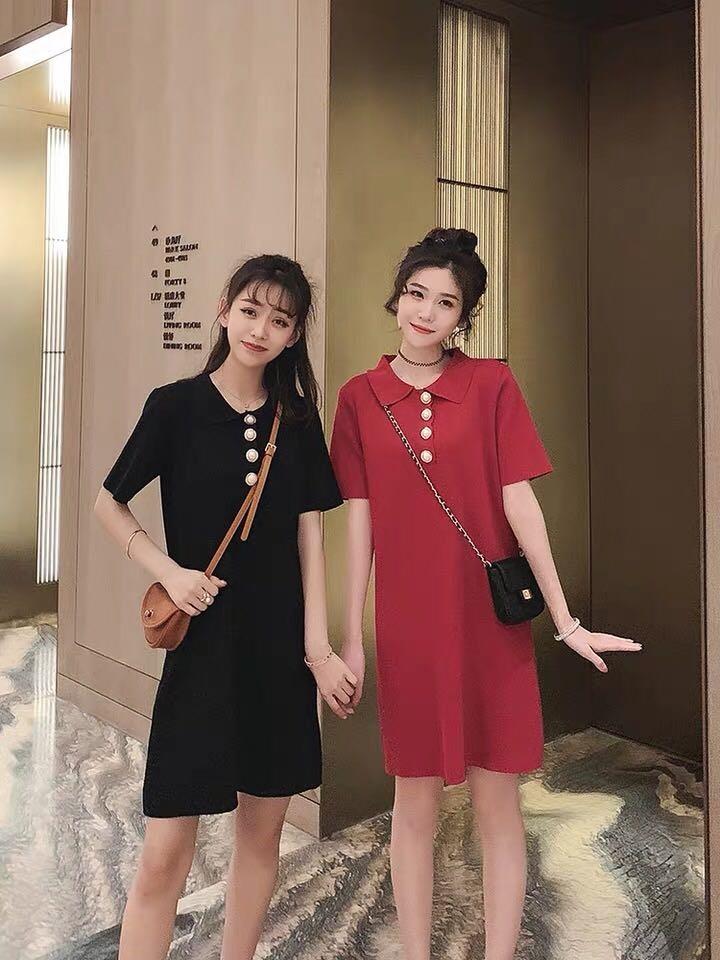 2019夏モデルの学院風の編み織のコーディネート自在のワンピース