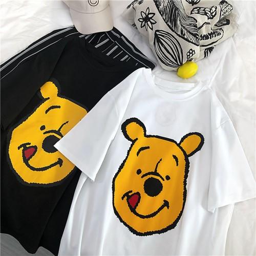 2019夏新作  ゆったりするプリント   tシャツ