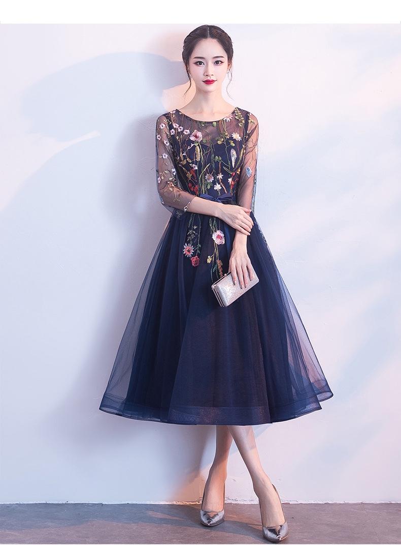 2019   ドレス  イブニングスカート  ミドルスカート  タキシード スカート ワンピース-1