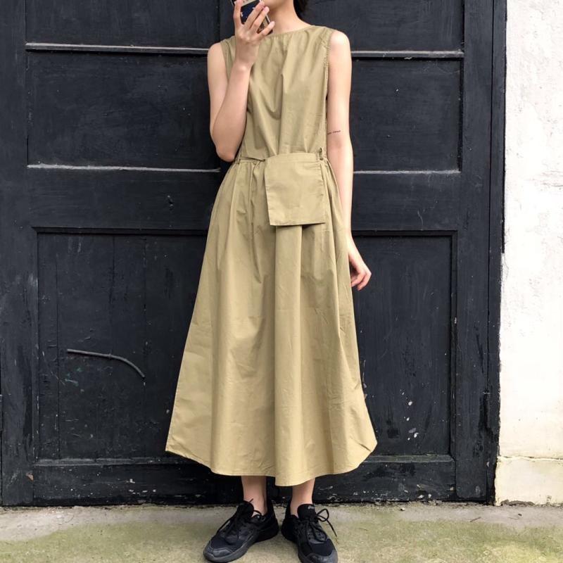 韓国ファッション ゆったり マキシワンピース ロングワンピース 体型をカバー