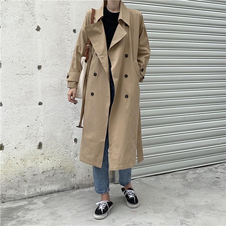 2019年秋新作 トレンチコート レディースファッション ロングアウターコート