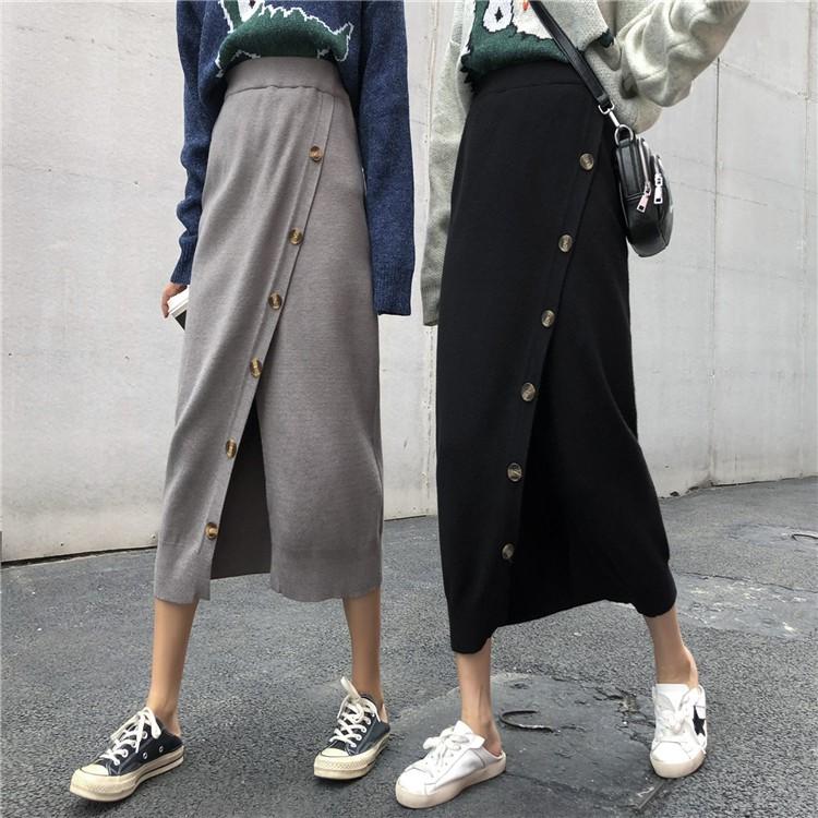 19年秋新作 ロングニットスカート