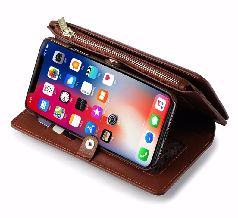 新品iPhoneXS MAX多機能携帯電話ケースApple XRクリエイティブ電話ケース7-8Pウォレットカバー