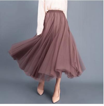 メッシュスカートプリーツスカート