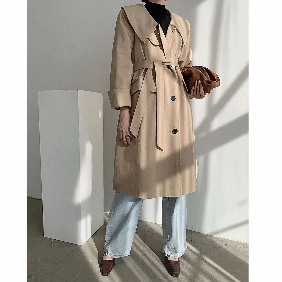 韓国ファッション レディース トレンチコート ロング丈 コート