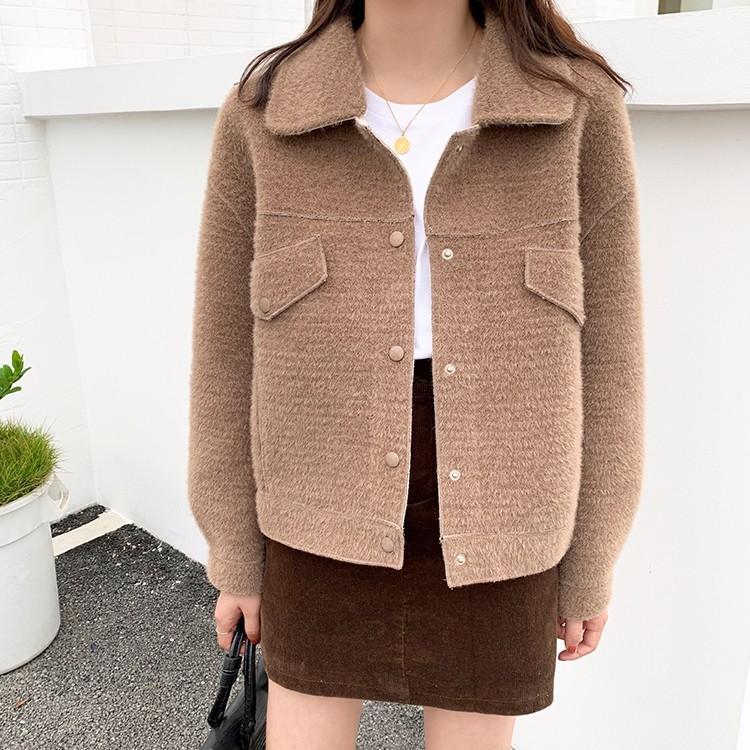 韓国ファッション ショートアウターコート 秋冬物-1