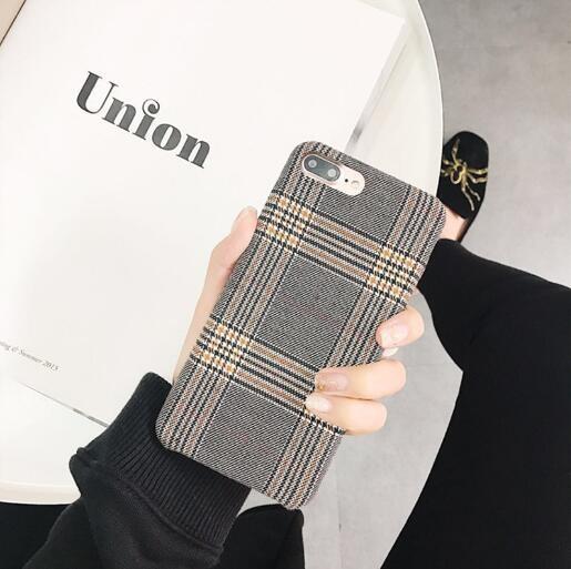 秋冬新作 iPhoneカバー スマホケース アイフォンケース ファブリック 格子柄  iPhone11 Pro max