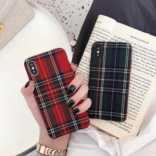 秋冬新作 iPhoneカバー スマホケース アイフォンケース ファブリック イギリス風  iPhone11 Pro max-1
