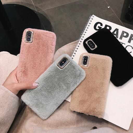 秋冬新作 iPhoneカバー スマホケース アイフォンケース ファー 純色 オシャレ iPhone11 Pro max