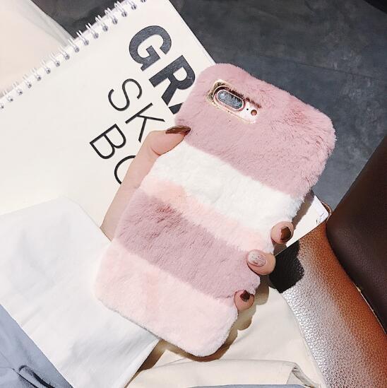 秋冬新作 iPhoneカバー スマホケース アイフォンケース ファー 配色 オシャレ iPhone11 Pro max-1