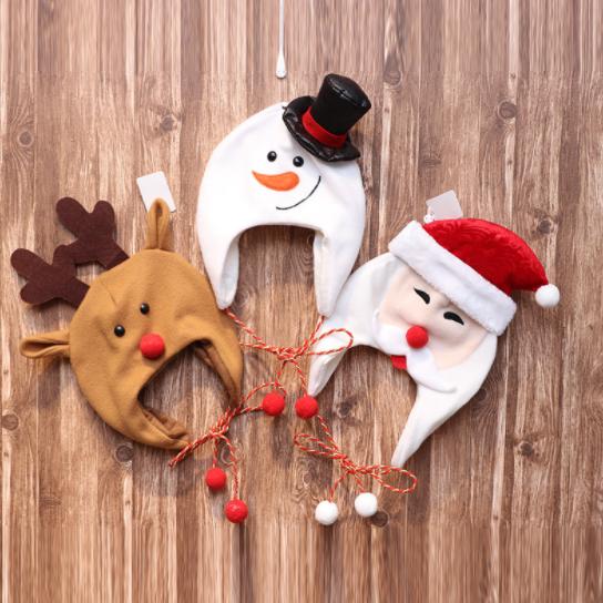クリスマス 帽子 子供 大人 雪だるま トナカイ クリスマスツリー