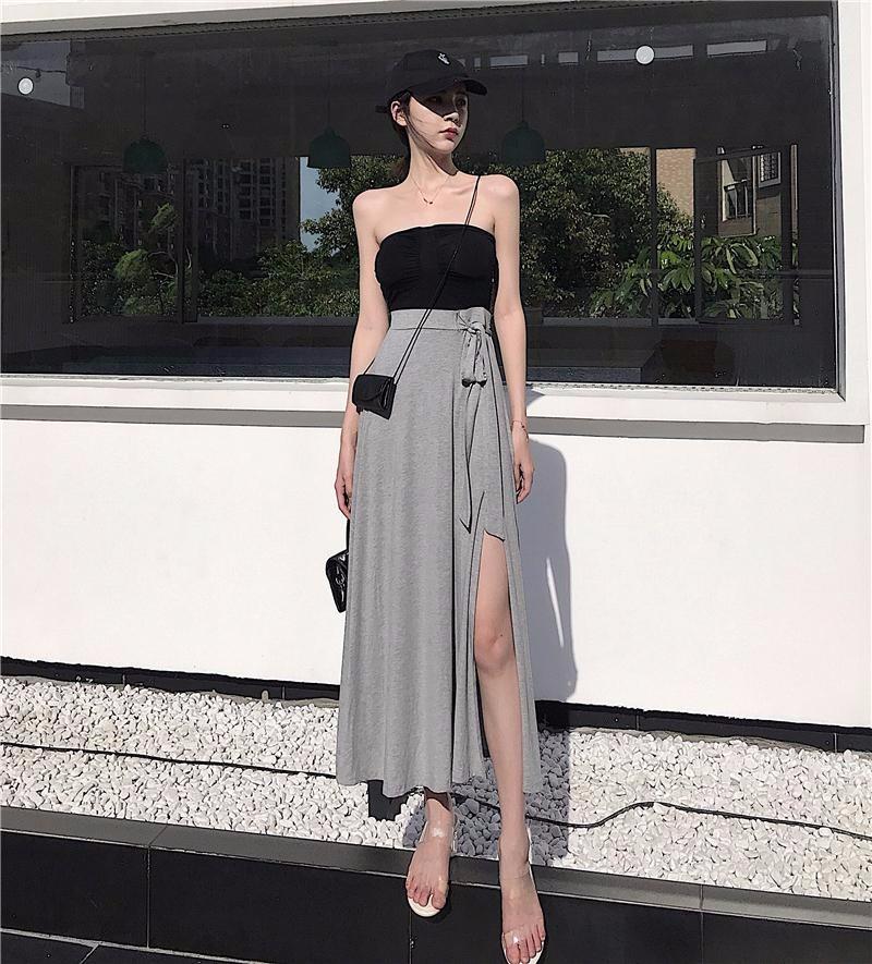 ロングスカート 不規則スカート