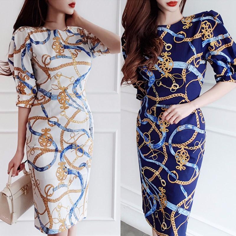 韓国ファッション OL 通勤 ドレス エレガントワンピース