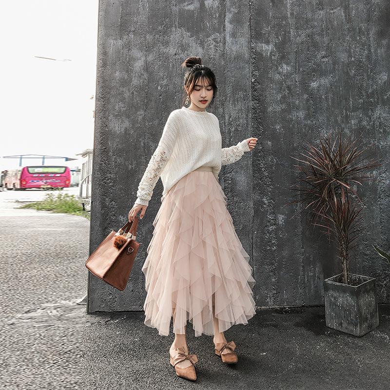 09.9ポンチョスカート-杏