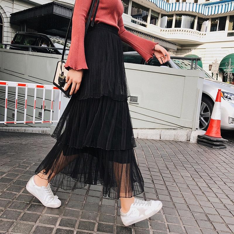 106カステラのスカート-黒