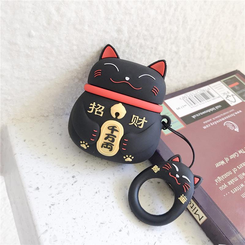 黒招き猫+指輪