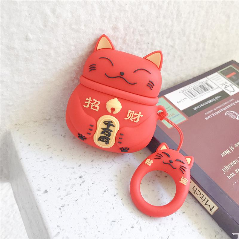赤招き猫+指輪