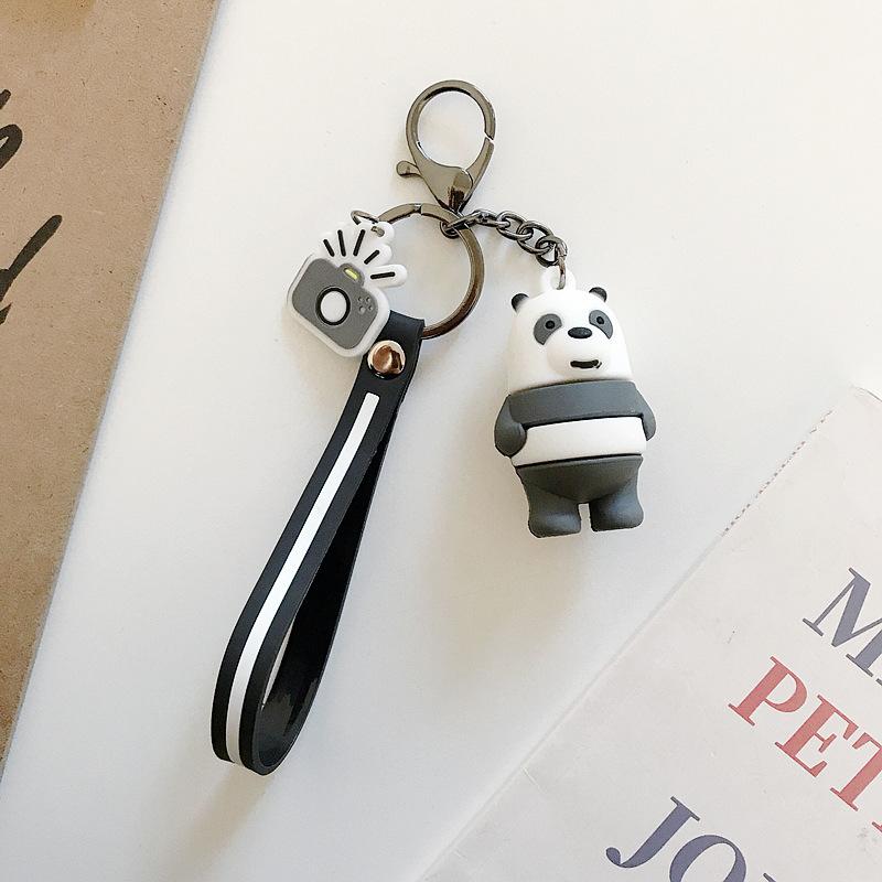 白黒クマのペンダント
