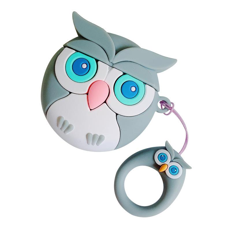 灰色のふくろう+指輪