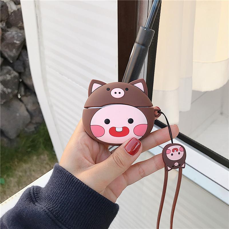 ヘッドセット-黒豚モモ+手綱