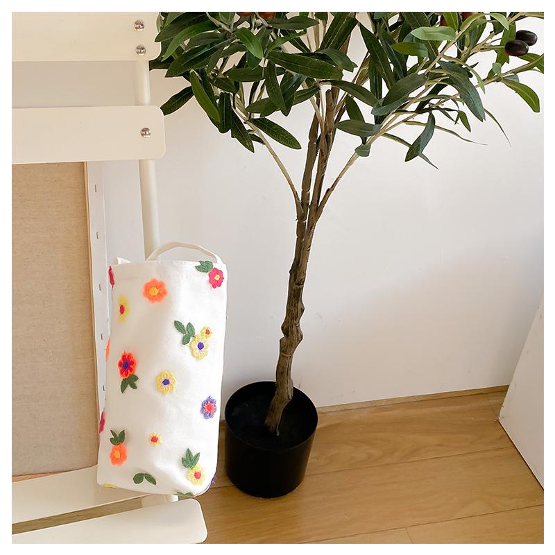 カラー小花の水筒包み