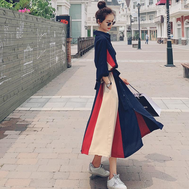 帮手描述图:女人味法式长袖连衣裙女2020秋季新款名媛气质显