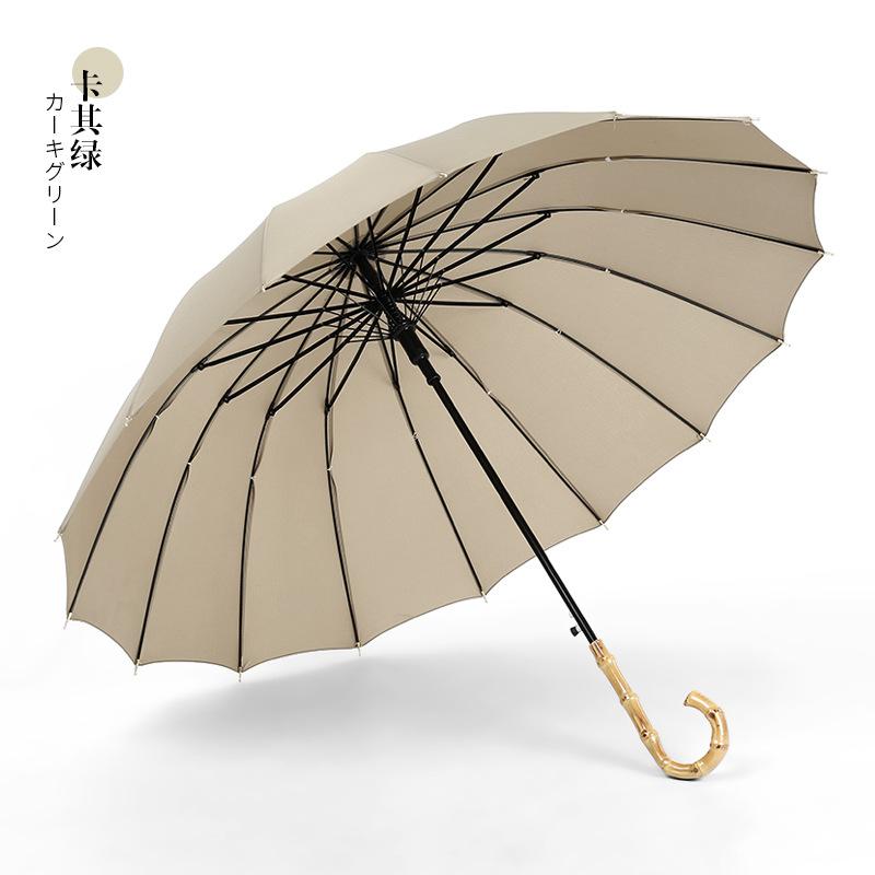 16オープンの真竹柄のカーキ色