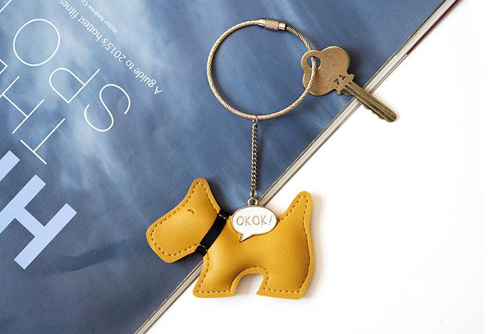 狗 PU钥匙扣挂件OKOK 01