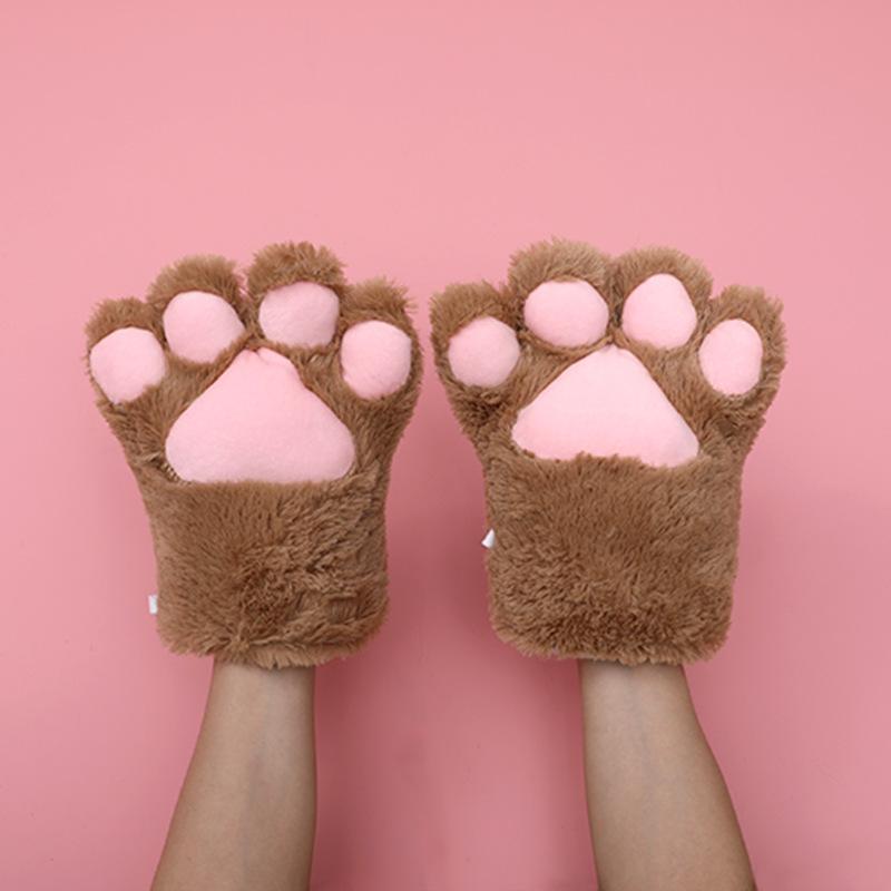 猫の爪の手袋-ベージュ