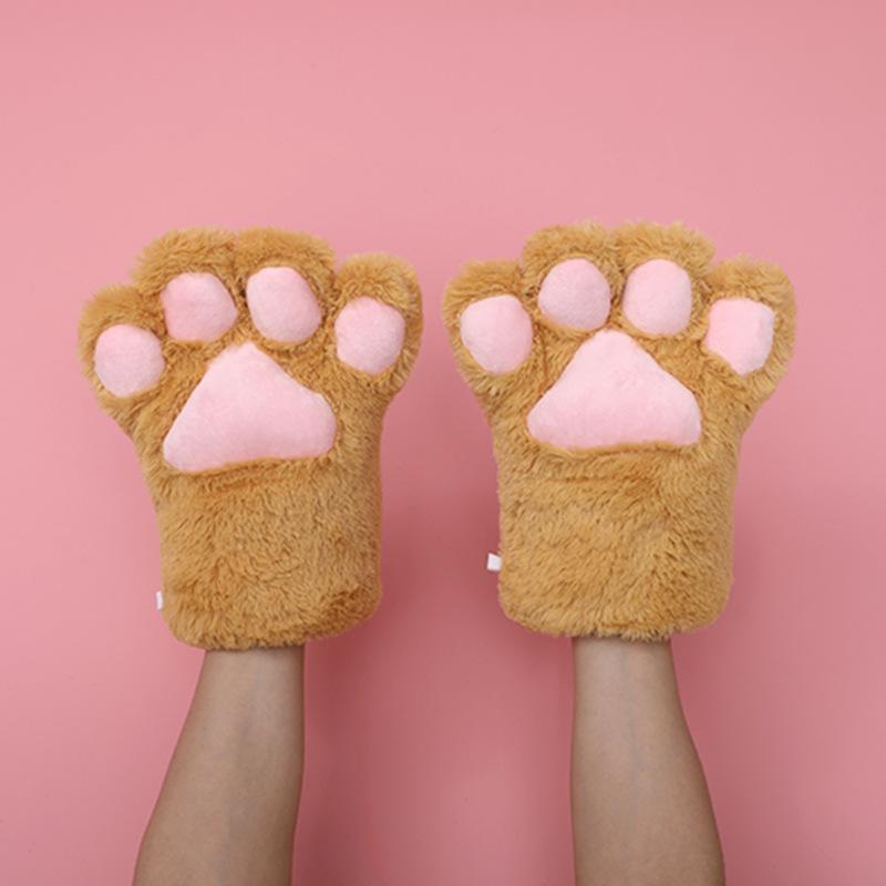 猫の爪の手袋-茶色