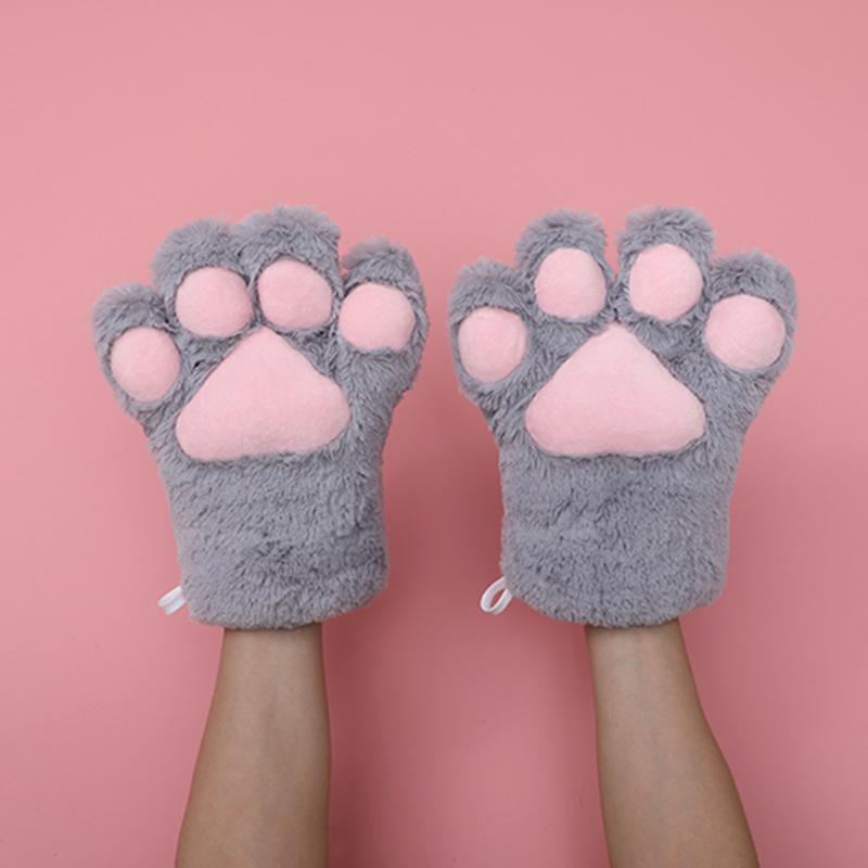 猫の爪の手袋-灰色
