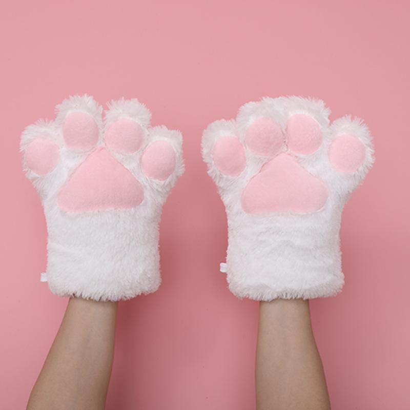 猫の爪の手袋-白