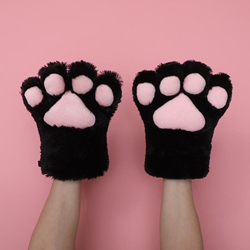 猫の爪の手袋-黒
