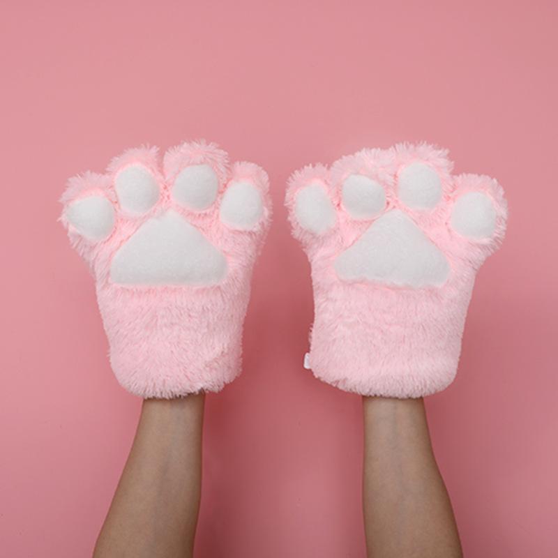 猫の爪の手袋-ピンク