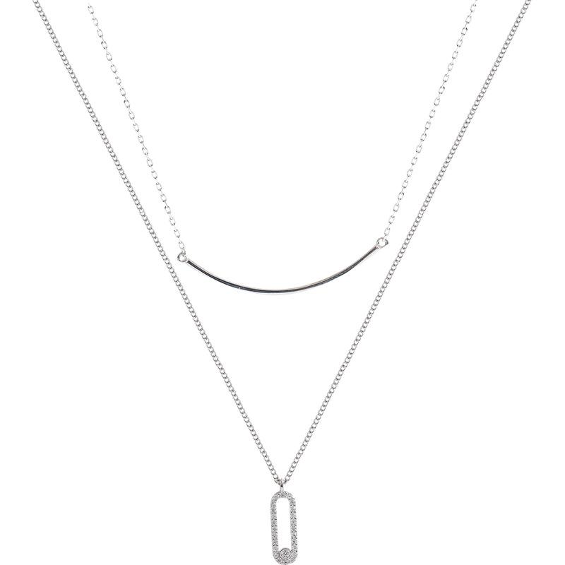 スマイル幾何重ネックレス